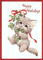 Kitten Holiday Card, Happy Holidays
