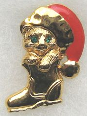 Collectible Kitten In Boot Pin