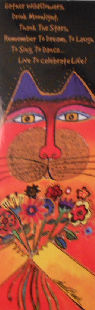 Laurel Burch Cat Bookmark, Gather Wildflowers
