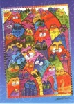 Laurel Burch Cat Magnet, 40 Cats