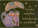 Laurel Burch Cat Magnet, Share Your Umbrella