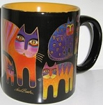 Laurel Burch Cat Mug, Fantastic Feline