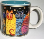 Laurel Burch Cat Mug, Feline Family