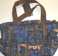 Laurel Burch Cat Purse Or Handbag, Indigo Cats
