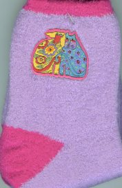 Laurel Burch Slipper Socks, Kindred Spirit