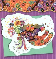 Laurel Burch Thank You Card And Magnet
