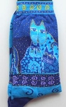 Laurel Burch Cat Socks, Indigo Cats, Blue