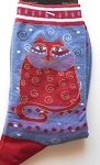 Laurel Burch Cat Socks, Crimson Cat