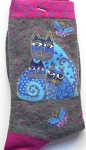 Laurel Burch Cat Purse, Handbag, Socks, Scarf, Ball Cap, Visor, Apron, T Shirt, Cosmetic Bag