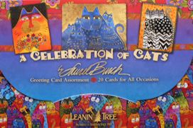 Cat Greeting Card Assortment, Laurel Burch A Celebration Of Cats