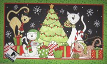 Outdoor Cat Doormat, Christmas Cats
