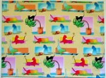 Cat Place Mat Set, Colorful Cats