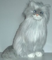 Plush Long Haired Grey Cat