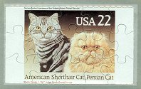 Collectible Postcard Puzzle, American Shorthair Cat, Persian Cat