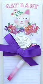 Sample, Cat Lady List Pad And Pen