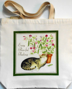 Sample, Cat Canvas Tote Bag, Easy