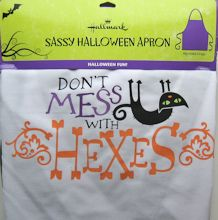 Sample, Halloween Cat Apron, Hexes