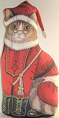 Santa Paws Cat Doorstop
