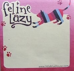 Cat Self Stick Notes, Feline Lazy