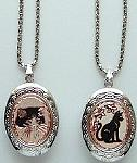 Cat Locket, Tuxedo Cat Or Cat Silhouette