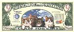 Cat Lover Nine Dollar Bill