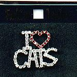 Cat Lover Pin, I Love Cats