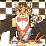 Cat Light Switch Cover, Double, Chef Cat