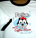 Felix The Cat T Shirt, Coffee House