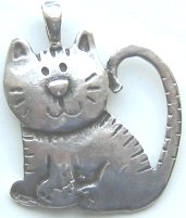 Kitten Pendant, Smiling Kitten