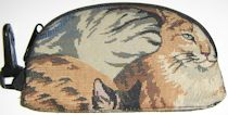 Tapestry Cat Cosmetic Bag