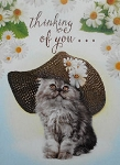 Cat Easter Card, Thinking Of You