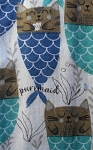 Cat Kitchen Towel, Purrmaid