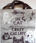 Cat Lady Tote Bag, Recycled