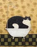 Collectible Cat Notecards, Warren Kimble, Tin Tub