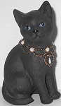 Collectible Black Cat Figurine, Seated, Lenox