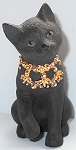 Collectible Black Cat Figurine, Step, Lenox