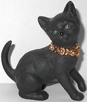 Collectible Black Cat Figurine, Tail Up, Lenox