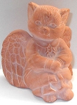 Collectible Cat Angel, Terra Cotta