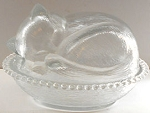 Collectible Cat Candy Dish, Sleeping Kitten