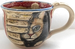 Collectible Cat Mug, Handcrafted