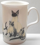 Collectible Cat Mug, Siamese, Bone China