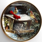 Collectible Cat Plate, Cat Nap