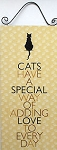 Collectible Cat Sign, Adding Love