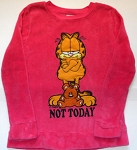 Collectible Garfield Fleece Sweatshirt, Not Today