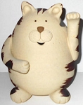 Collectible Greeting Cat, Clay