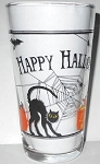 Collectible Halloween Cat Drinking Glass
