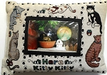 Collectible Cat Word Pillow, Here Kitty, Kitty