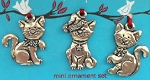 Kittens Mini Ornament Set