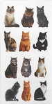 Cat Stickers, Mini Mixed Cats