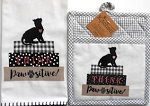 Oven Mitt And Tea Towel Set, Pawsitive